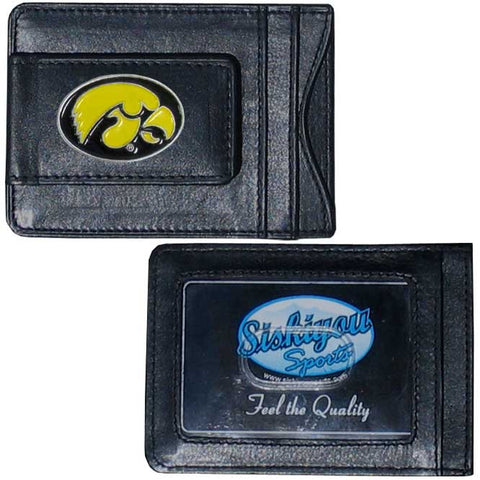 Iowa Hawkeyes Leather Cash & Cardholder