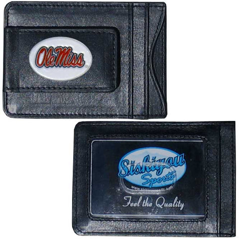 Mississippi Rebels Leather Cash & Cardholder