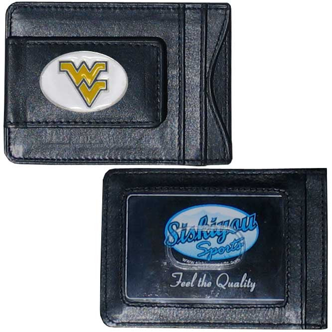 W. Virginia Mountaineers Leather Cash & Cardholder