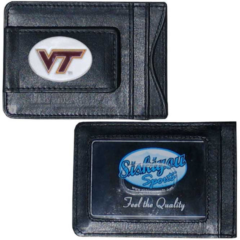 Virginia Tech Hokies Leather Cash & Cardholder