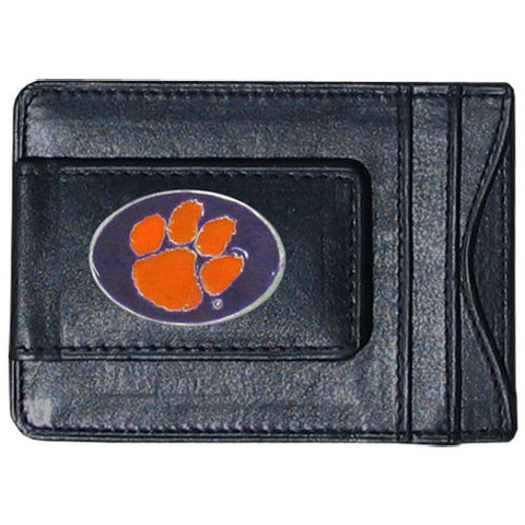 Clemson Tigers Leather Cash & Cardholder