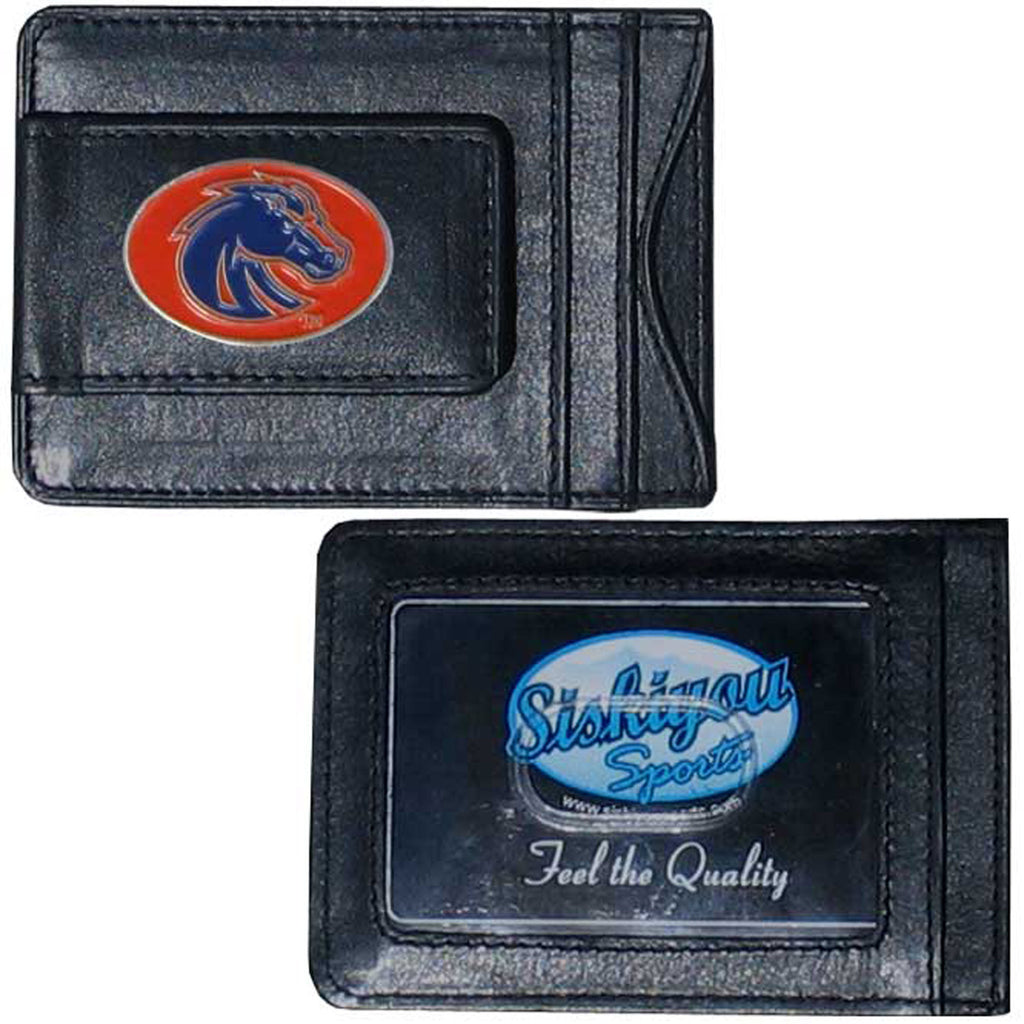 Boise St. Broncos Leather Cash & Cardholder