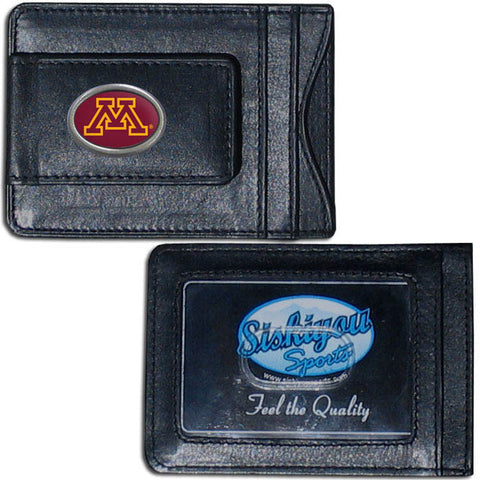 Minnesota Golden Gophers Leather Cash & Cardholder