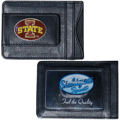 Iowa St. Cyclones Leather Cash & Cardholder