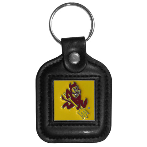 Arizona St. Sun Devils Square Leatherette Key Chain
