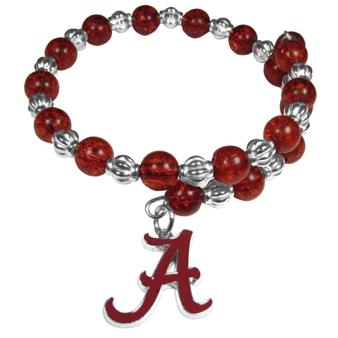 Alabama Crimson Tide Bead Memory Wire Bracelet