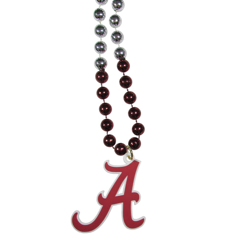 Alabama Crimson Tide Mardi Gras Necklace