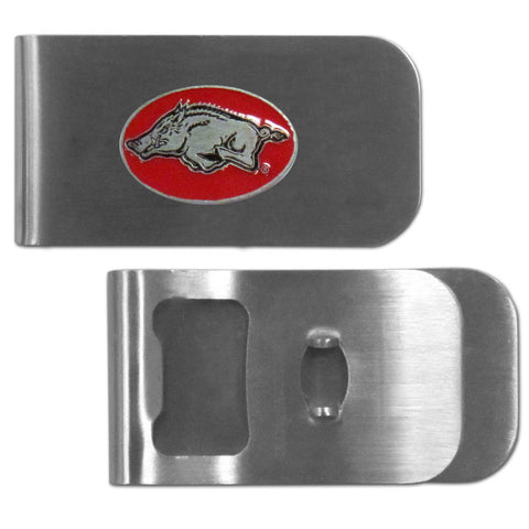 Arkansas Razorbacks Bottle Opener Money Clip