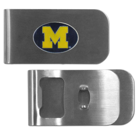 Michigan Wolverines Bottle Opener Money Clip