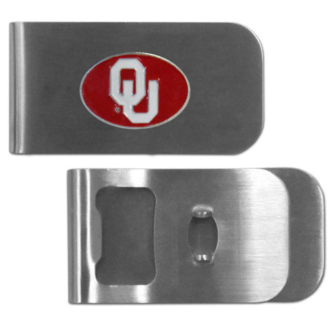 Oklahoma Sooners Bottle Opener Money Clip