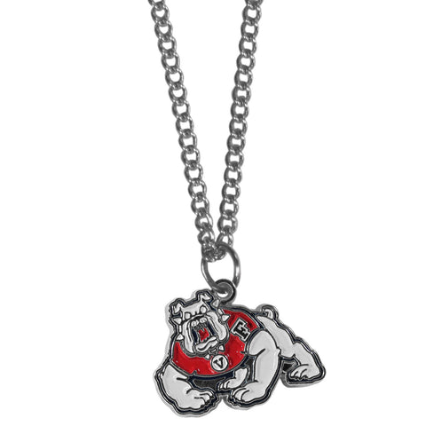 Fresno St. Bulldogs Chain Necklace with Small Charm