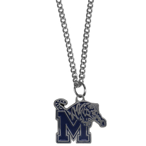 Memphis Tigers Chain Necklace with Small Charm