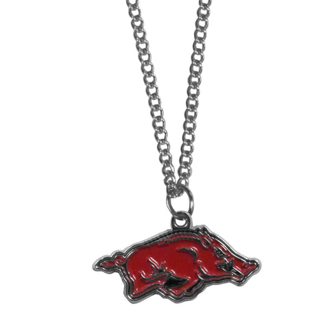 Arkansas Razorbacks Chain Necklace with Small Charm