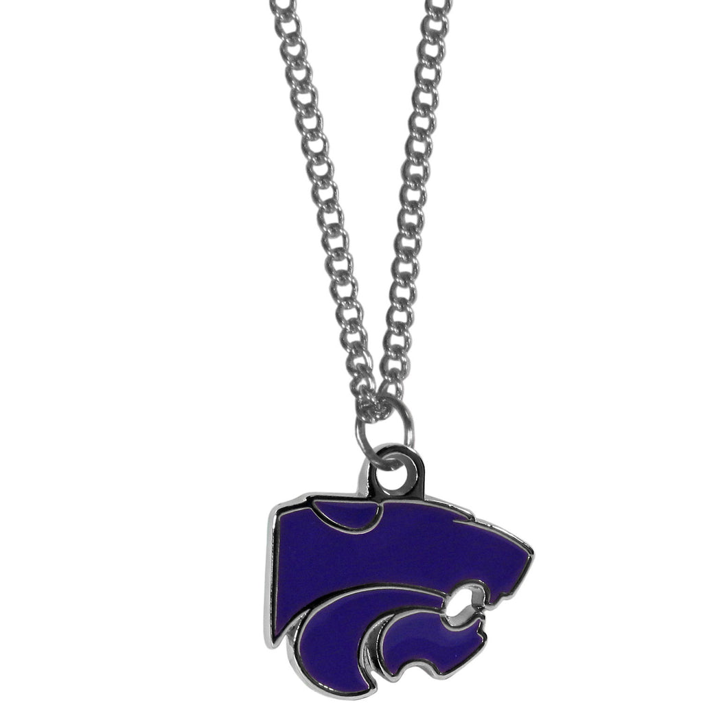Kansas St. Wildcats Chain Necklace with Small Charm