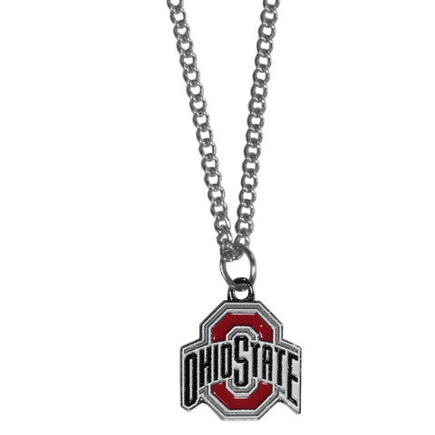 Ohio St. Buckeyes Chain Necklace with Small Charm