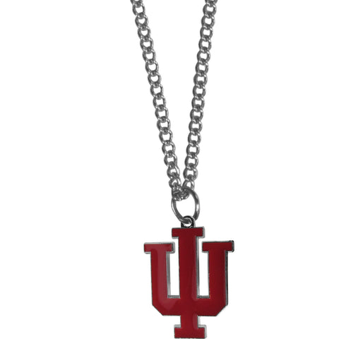 Indiana Hoosiers Chain Necklace with Small Charm