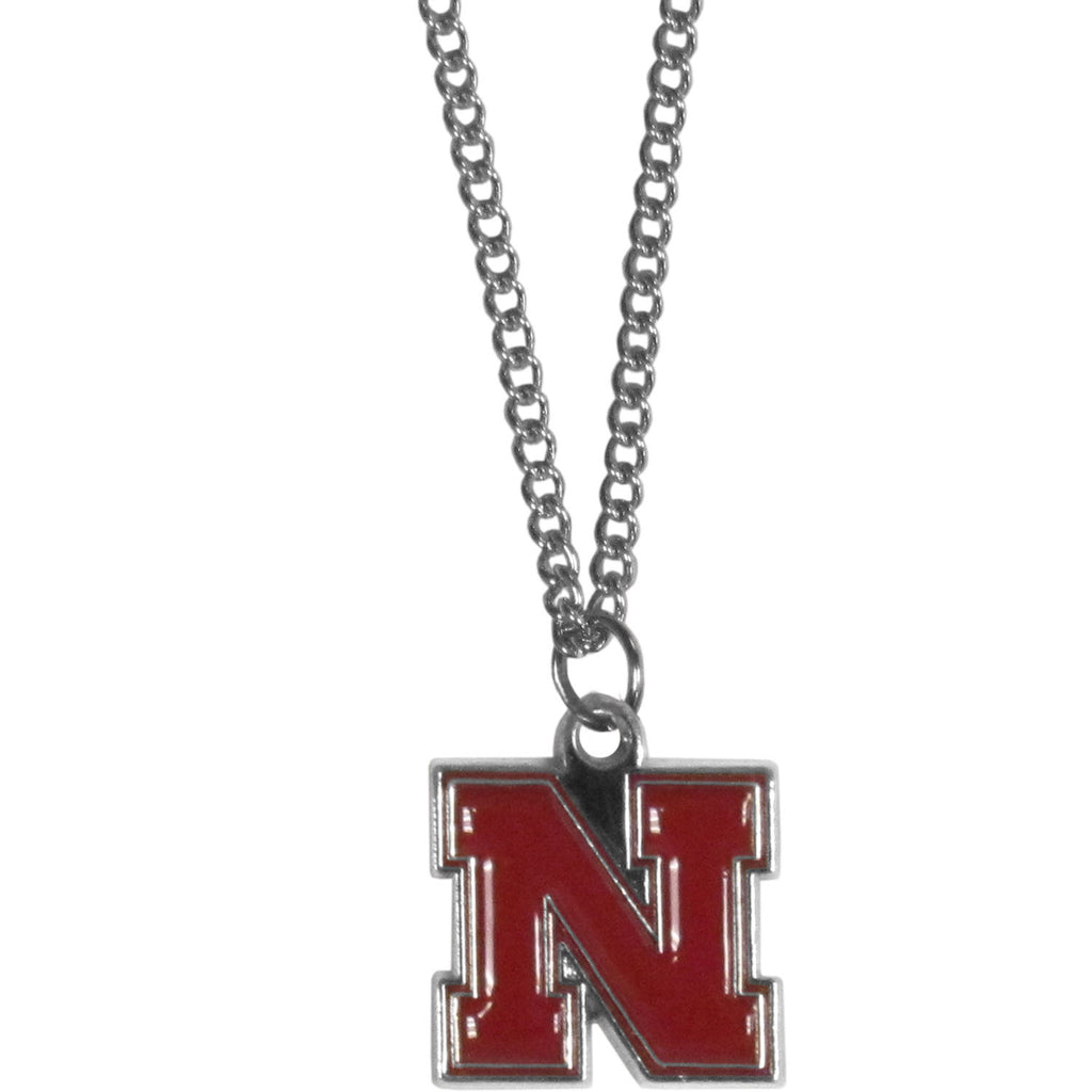 Nebraska Cornhuskers Chain Necklace with Small Charm