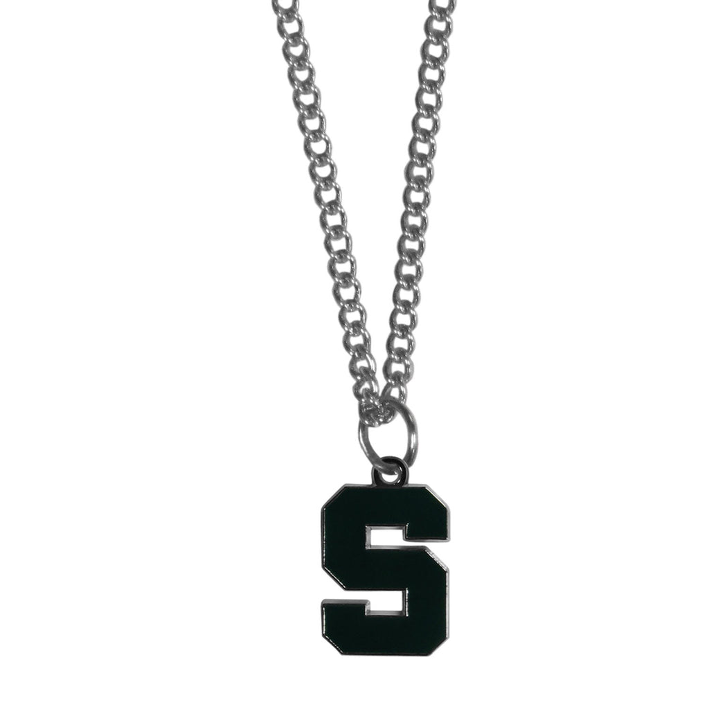 Michigan St. Spartans Chain Necklace with Small Charm