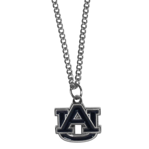 Auburn Tigers Chain Necklace with Small Charm