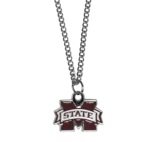 Mississippi St. Bulldogs Chain Necklace with Small Charm