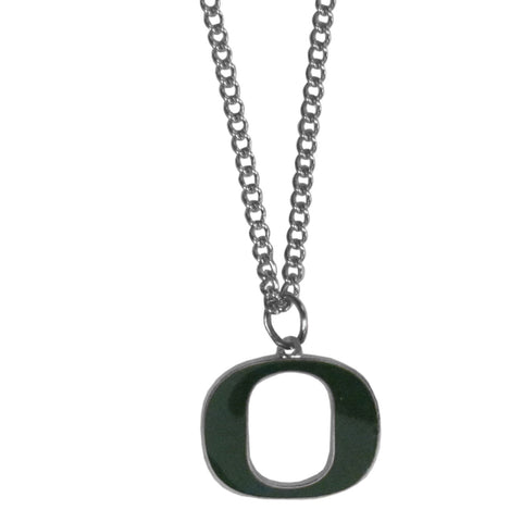 Oregon Ducks Chain Necklace with Small Charm