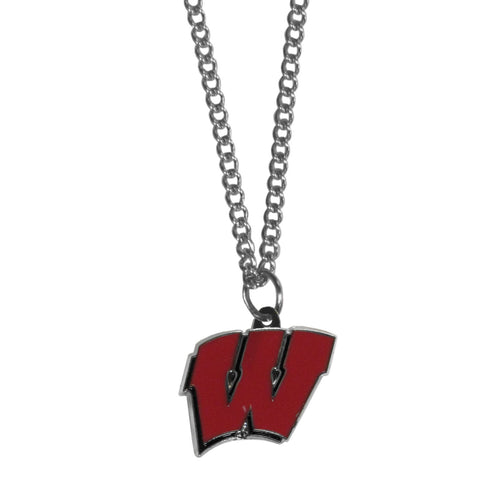 Wisconsin Badgers Chain Necklace with Small Charm