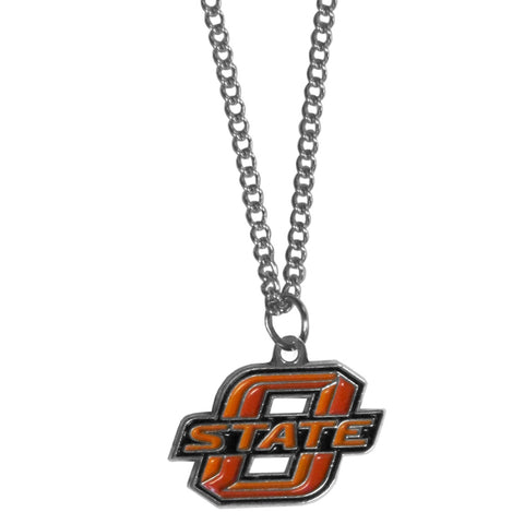 Oklahoma State Cowboys Chain Necklace with Small Charm
