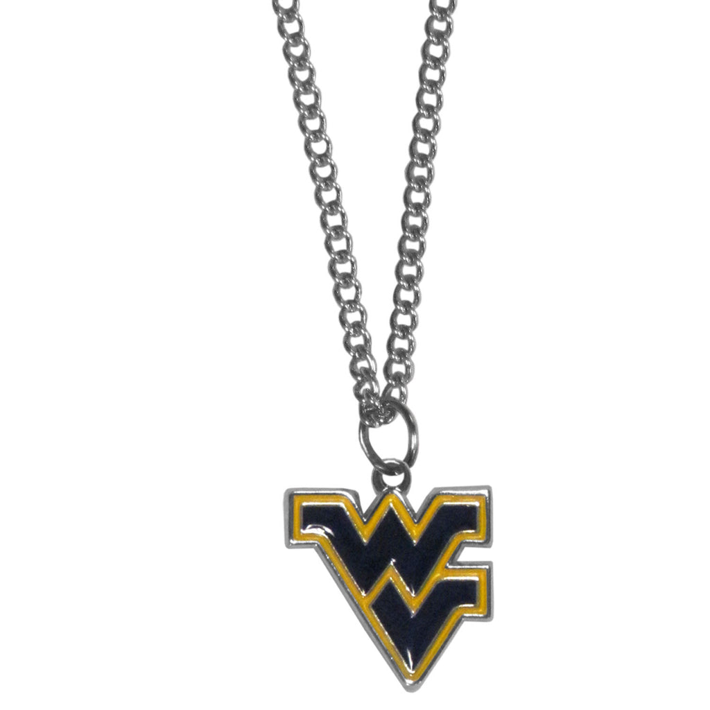 W. Virginia Mountaineers Chain Necklace with Small Charm