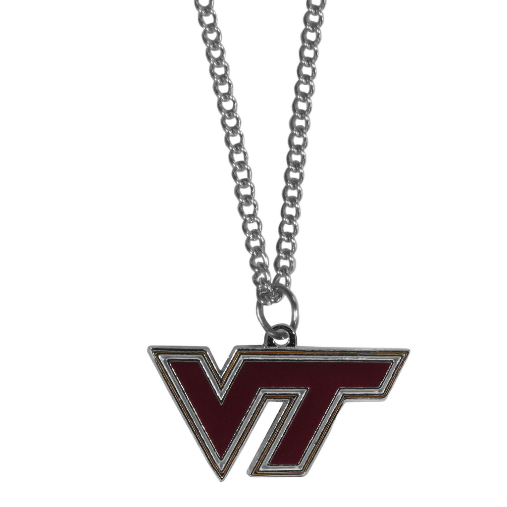 Virginia Tech Hokies Chain Necklace with Small Charm