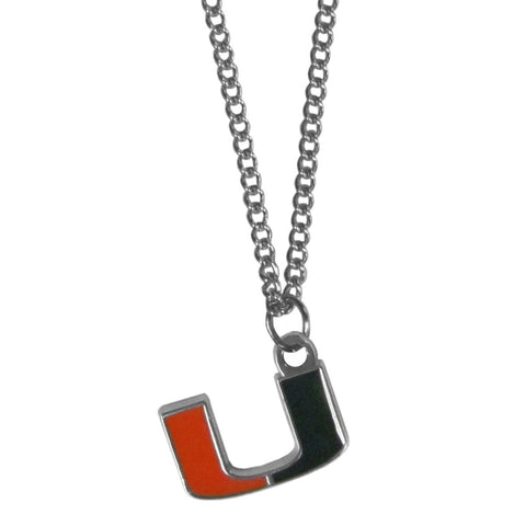 Miami Hurricanes Chain Necklace with Small Charm