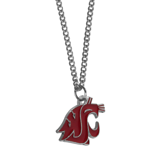 Washington St. Cougars Chain Necklace with Small Charm