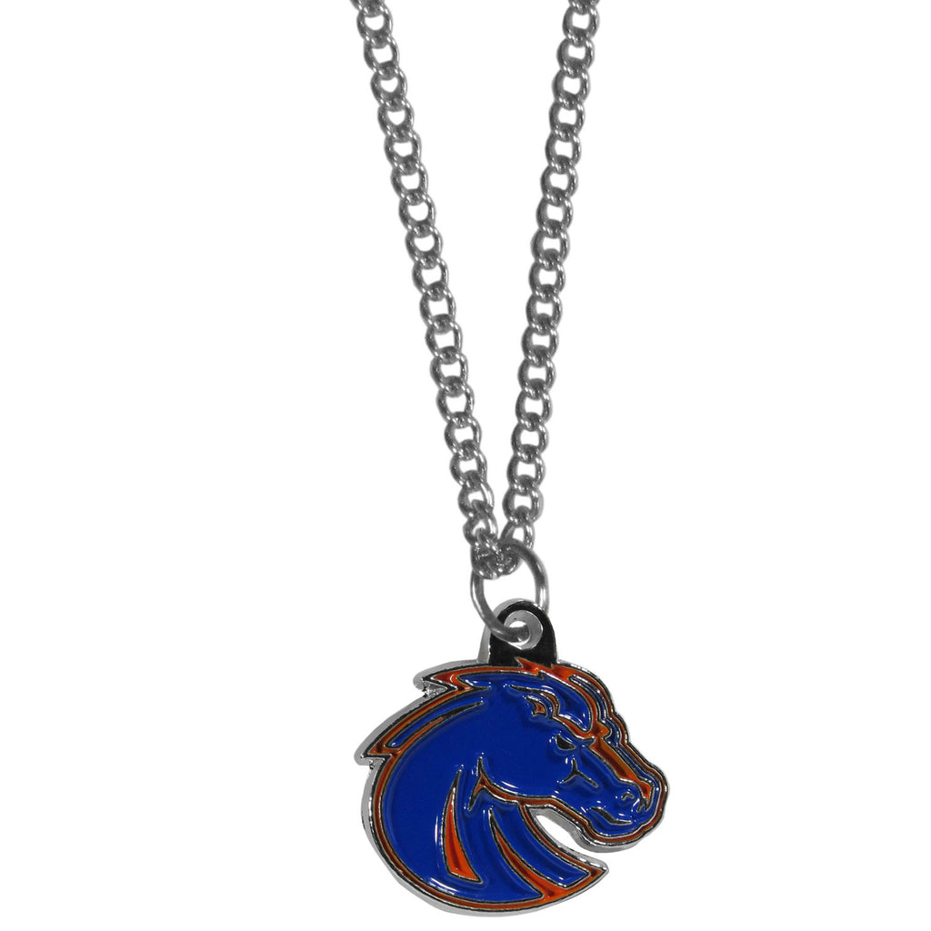 Boise St. Broncos Chain Necklace with Small Charm