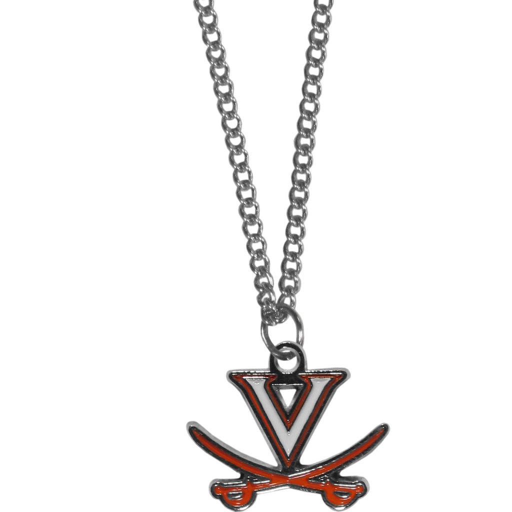 Virginia Cavaliers Chain Necklace with Small Charm