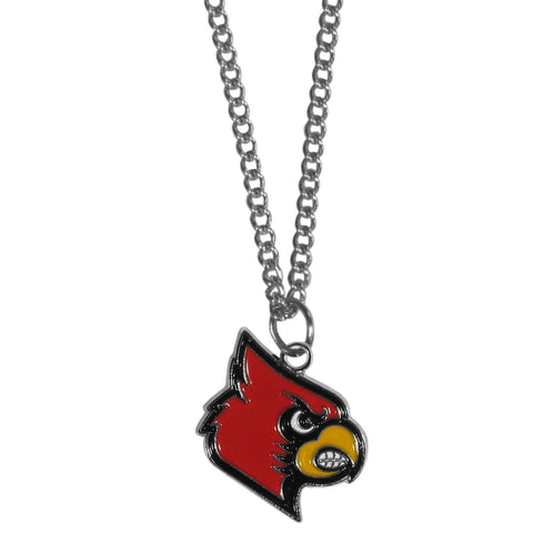 Louisville Cardinals Chain Necklace with Small Charm