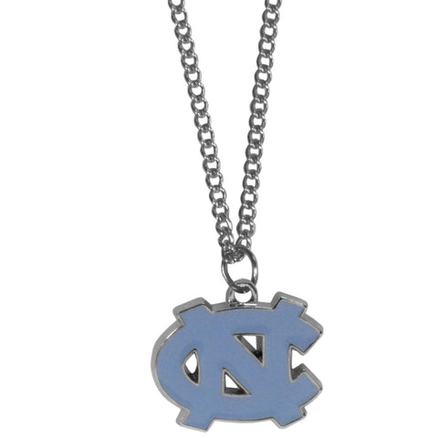 N. Carolina Tar Heels Chain Necklace with Small Charm