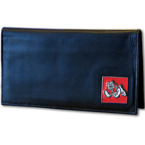 Fresno St. Bulldogs Leather Checkbook Cover Packaged in Gift Box