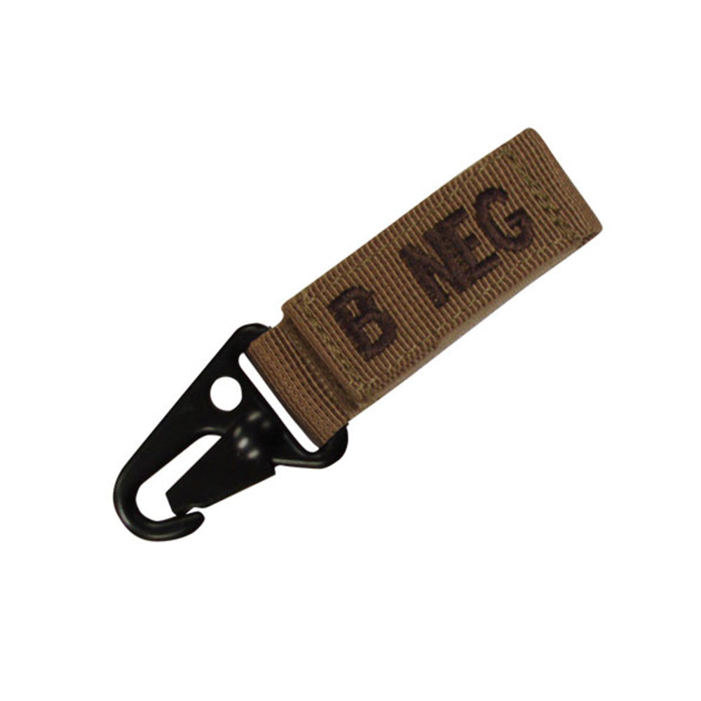 Blood Type Key Chain (AB Negative) Color- Tan