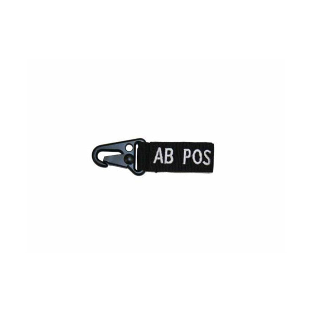 Blood Type Key Chain (AB Positive) Color- Black