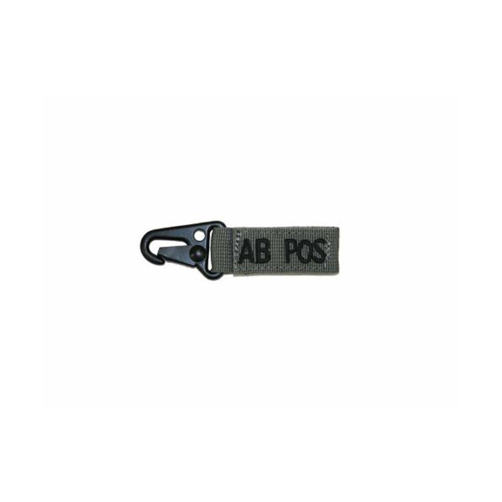 Blood Type Key Chain (AB Positive) Color- Foliage