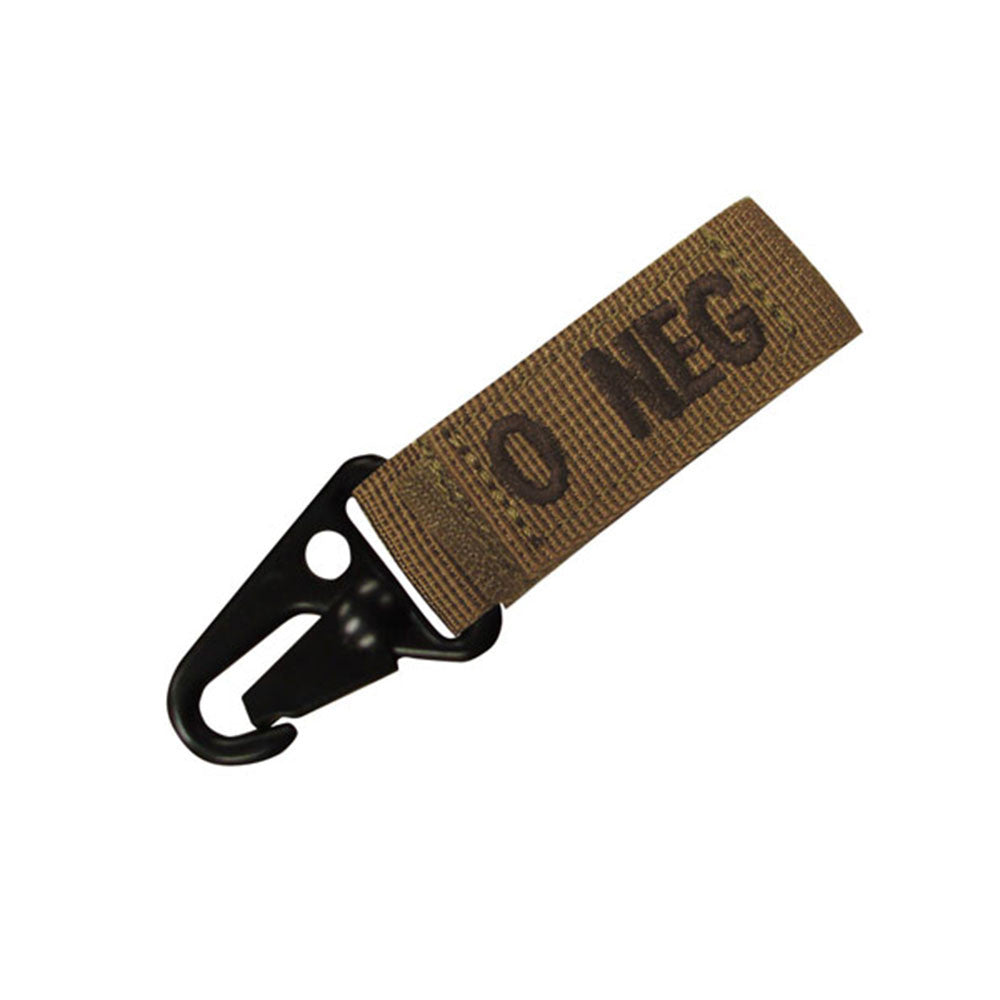 Blood Type Key Chain (O Negative) Color- Tan