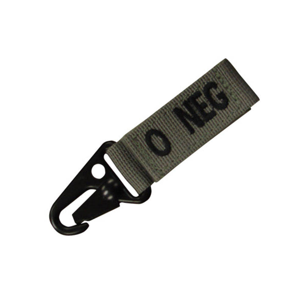 Blood Type Key Chain (O Negative) Color- Foliage