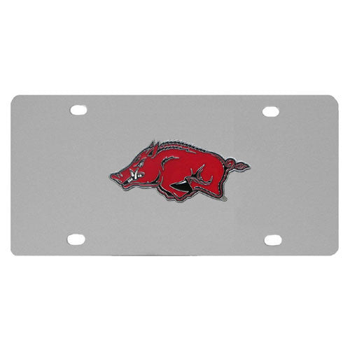 Arkansas Razorbacks Steel License Plate