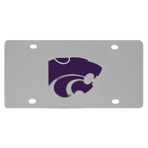 Kansas St. Wildcats Steel License Plate