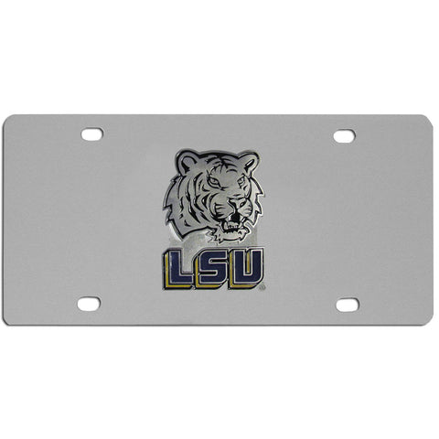 LSU Tigers Steel License Plate