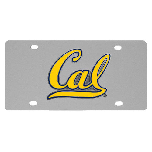 Cal Berkeley Bears Steel License Plate