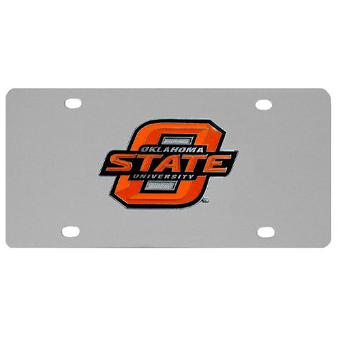 Oklahoma State Cowboys Steel License Plate