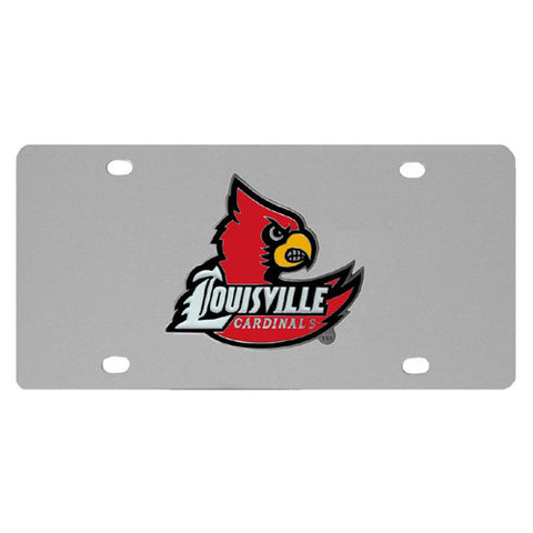 Louisville Cardinals Steel License Plate