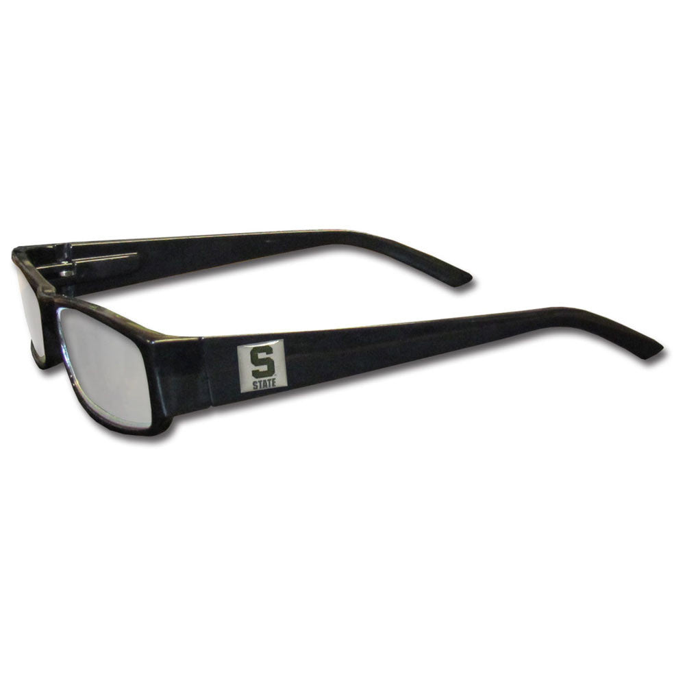 Michigan St. Spartans Black Reading Glasses +1.75