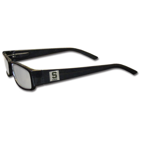 Michigan St. Spartans Black Reading Glasses +2.25