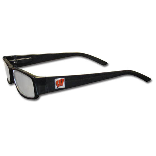 Wisconsin Badgers Black Reading Glasses +2.25